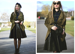♡Anita Kurkach♡ - La Strada Glasses, Romwe Blouse, Romwe Coat, Sheinside Skirt, Lalalilo Hat, Alisonman Shoes - Hey, people!