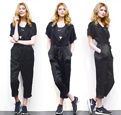 Ebba Zingmark - Forever 21 Jumpsuit, Nike Sneakers, Nike Sports Top - Three of me again