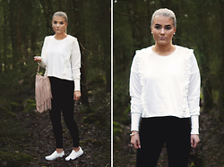 Fanny Lindblad - Gina Tricot Sweater, Skopunkten Shoes, H&M Bag - Magical forest