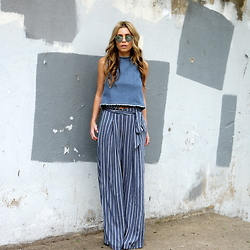 The Pearl Oyster - Asos Crop Top, Forever 21 Pants - Denim crop