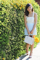 Olivia Yuen - Topshop Necklace, Urban Outfitters Romper, Baublebar Bracelets, Topshop Ring, Zara Bag, Zara Shoes - Gingham Bliss