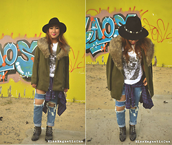 Ojie Papalli - Zara Coat, Ojie Papalli Distressed Jeans, Ojie Papalli Shirt, Oviesses Fedora Hat, Polo Shirt (From Husband) - Fast Car (Tracy Champman)