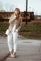 Kasia Cieślik - Vintage Suede Jacket, Vintage Sweater, Cubus Jeans, Bershka - All My Life I've Stepped To The Rhythm Of The Drums