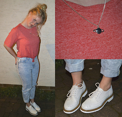 Toni - Akira Shoes, Urban Outfitters Shirt, Bershka Pants, H&M Necklace - I'm a builder