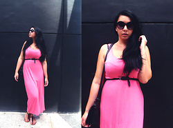 Mlle Coconath - Cotton On Sunglasses, H&M Dress, H&M Belt, Charles & Keith Bag, Cotton On Sandals - Casual Sunday