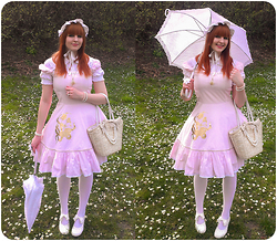 Mitsuko † from Weird Land - Madame Muffin Verne, Porcelain Doll Headdress, Gate Ballet Girl Necklace, Bodyline Shoes - Sweet day~