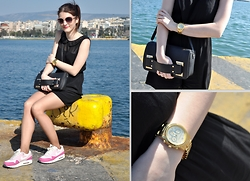 LOVERENCE Andrea Jelenská - F&F Dress, Nike Boots, Michael Kors Watches, Cropp Bag - Athens Pireus