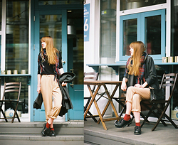 Nastia Poberezhna - Shellys London Boots, Sheinside Coat - Film Photography