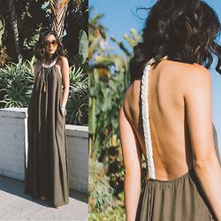Stephanie Liu - Rae Francis Dress - BEACH PALMS