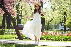 Diana Enciu - H&M White Dress, H&M Hat, Adidas - Spring Time