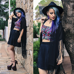 Nay Firens - Cn Direct Hat, Dressgal Cropped, Sheinside Kimono, Sammydress Shoes - Modern Witch