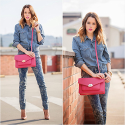 Raquel Cañas - Siman High Waist Jeans, Kenneth Cole Bag - POP THE COLOR