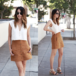 Brittany Xavier - Forever 21 White Top, Aldo Adigon - Perfect pair