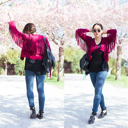 Romina Ch - Rebecca Minkoff Backpack, H&M Denim, Zara Sandals - Festive Bohos