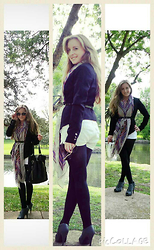 Stephanie - Forever 21 Blazer, Love Culture Boho Scarf - Boho Scarf Play