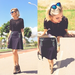 Luma Paganella - Melissa Boot, Joulik Skirt - All black style