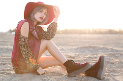 Alanna Durkovich - Play With Fala Vest, T.U.K. Boots - Dust