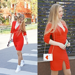 Federova Kik - Choies Dress, Persunmall Clutch - Little Red Dress