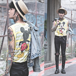 IVAN Chang - Disney Diy Top, Levi's® Vintage Jacket, Dr. Martens Shoes - 240415 TODAY STYLE