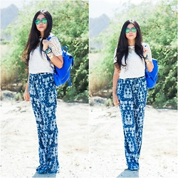 Goodbadandfab Girl - H&M Top, H&M Pants, Made Eyewear Sunnies, Vince Camuto Backpack, Latigo Basia Flats, La Mer Watch - Desert Waves