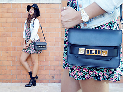 Patricia Prieto - Proenza Schouler Bag - Floral, Denim & Leather