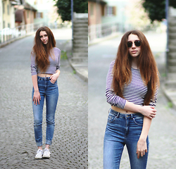 Francesca S - Stradivarius Top, H&M Jeans, Converse, Ray Ban Clubmaster - Don't
