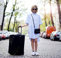 Ebba Zingmark - Monki Shirt Dress, Monki Bag, Nike Id Sneakers, Monki Shades - I'LL BE REMEMBERING WHAT YOU DID