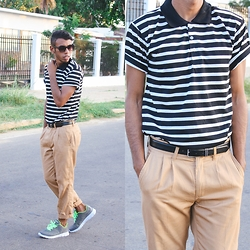 Adelso G. - Zerouv Glasses, Mr Porter Polo Shirt, Zara Pants Chino, Seven's Shoes - Casual #2