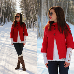 Lindsey Puls - Modcloth Sweater - Red Riding Hood-less