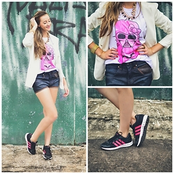 Dhani Weiss - Adidas Tenis, Hello Kitty Darth T Shirt, Animale Blazer, Animale Short - Look Fashion: Street Style + Tênis