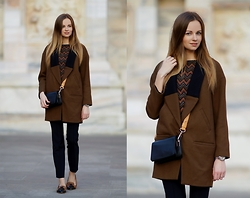 Olya Suvorova - Zara Oversized Coat, & Other Stories Leather Bag - Simple as that