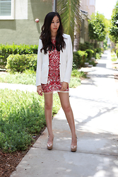 Jenni Y.R. - Chicwish Dress, H&M Blazer - Welcome Spring and Ducklings