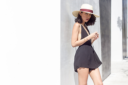 Joselin R - Nasty Gal Wide Brimmed Hat, Missguided Playsuit - BETTER THAN THAT