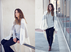 Jenelle Witty - Oncewas Blanket Cape, Oncewas Jumper, Oncewas Ponte Pant, Vintage Boots - THE BLANKET CAPE