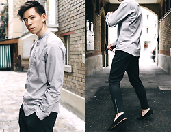 Frank Lin - Cos Grey Shirt, Vito Dark Grey Pants, House Of Hounds Black Loafers - These empty streets