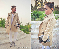 Ojie Papalli - Mango Coat, Clutch Paps Collection, Spylovebuy Boots, Tally Weijl Tee, Terranova Distressed Jeans - Spring smell