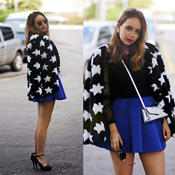Ana Luísa Braun - Style Moi Faux Fur Coat, Choies Skirt, Zerouv Glasses, Nastydress Dress - STARS