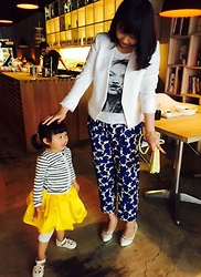Emma Wu - H&M Pants, Mango Blazer, Randa Flat, H&M Yellow Flower Clutch - My little client