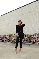 Huyen T - Vintage Chunky Chain, Vince Relaxed Rolled Jean, Prada Rubber And Gabardine Runway Sandal - Bloom