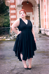 Audrey G. - Asos Curve Black Dress, Christian Louboutin Black Leather Heels, So Capristi Silver Necklace - The black dress