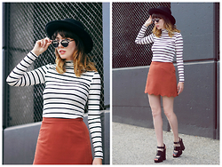 Amy Roiland - Asos Top And Skirt, Nastygal Shoes, Polette Eyewear - Hey Jude! Look here!!