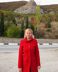 Tatiana T. - Zara Coat - Red coat