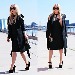 Justyna B. - Coat, Shoes, Prada Sunglasses - Total black look