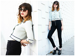 Amy Roiland - Courtshop Jeans, Montana Eyes Sunglasses - Never ever too late