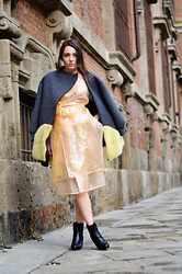 Melissa Cabrini - Alberto Zambelli Dress, Fatima Val Coat, Prada Booties - SHINE