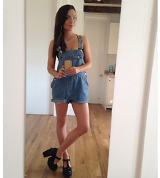 Katie Rose Van Buren - Gap Over Sized Overalls, Shellys London Platform Maryjanes, H&M Silver Icicle Necklace - Overall success ;)