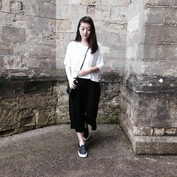 Anna S. - Monki Boxy Tee, Vero Moda Culottes, Vans Shoes, Mango Crossbody Bag - Take it in stride