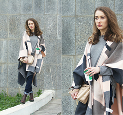 Aisha -- - Zara Top, Versace Bag, Monki Coat, Church's Shoes - Spring in the city