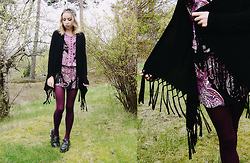 Catarina S. - Forever 21 Cardigan, Lindex Dress, Secondhand Wedges, Glitter Bandana, Lindex Tights - ► Modern Love - Coasts