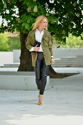 Lavinia F - Sheinside Jacket, Sheinside Pants, Lavine Heels - A military jacket